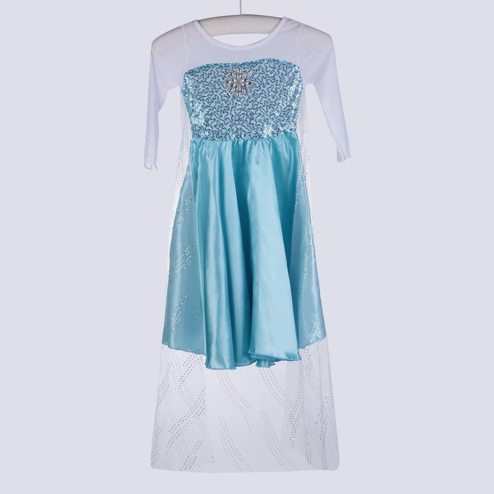 Classic Movie Kids Girls Princess Fancy Dress Party One-Piece Cosplay Costume