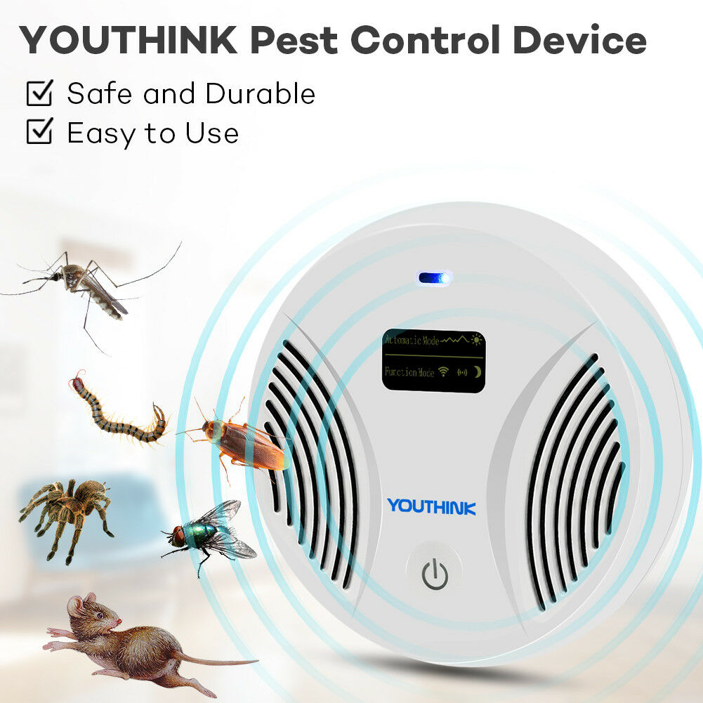 Electronic Ultrasonic Pest Reject Bug Mosquito Cockroach Killer Rodent Repeller