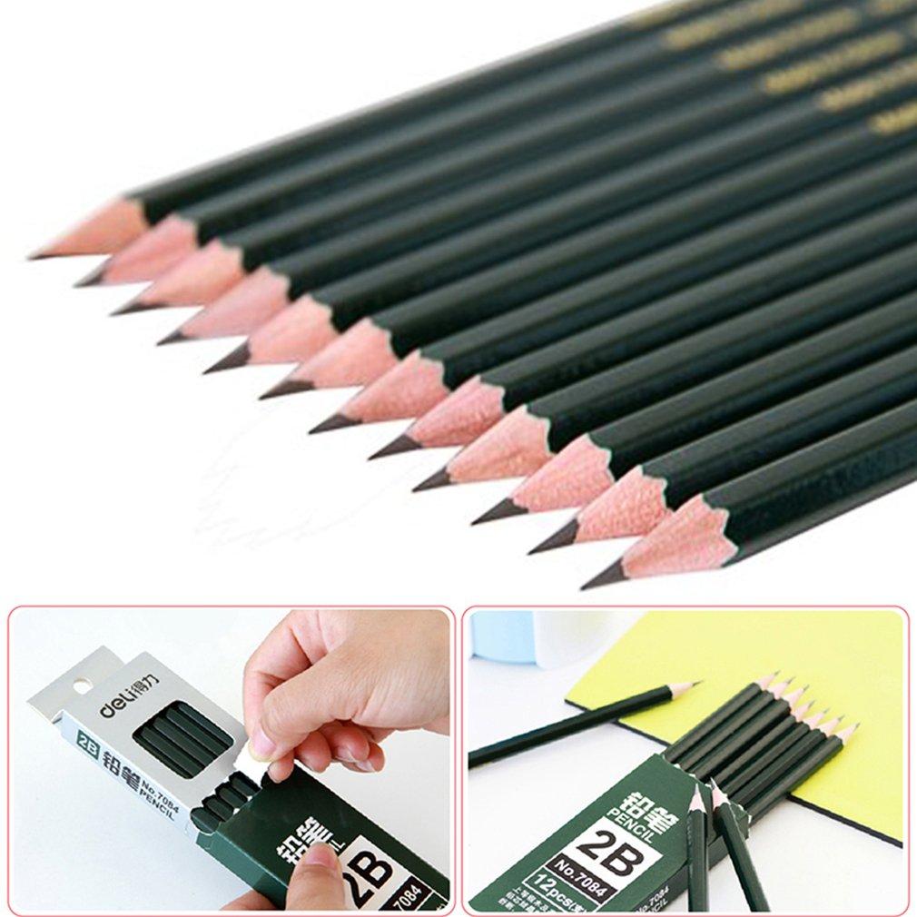 Deli 7084 Universal 2B Pencil Artist School Supplies For Drawing Writing