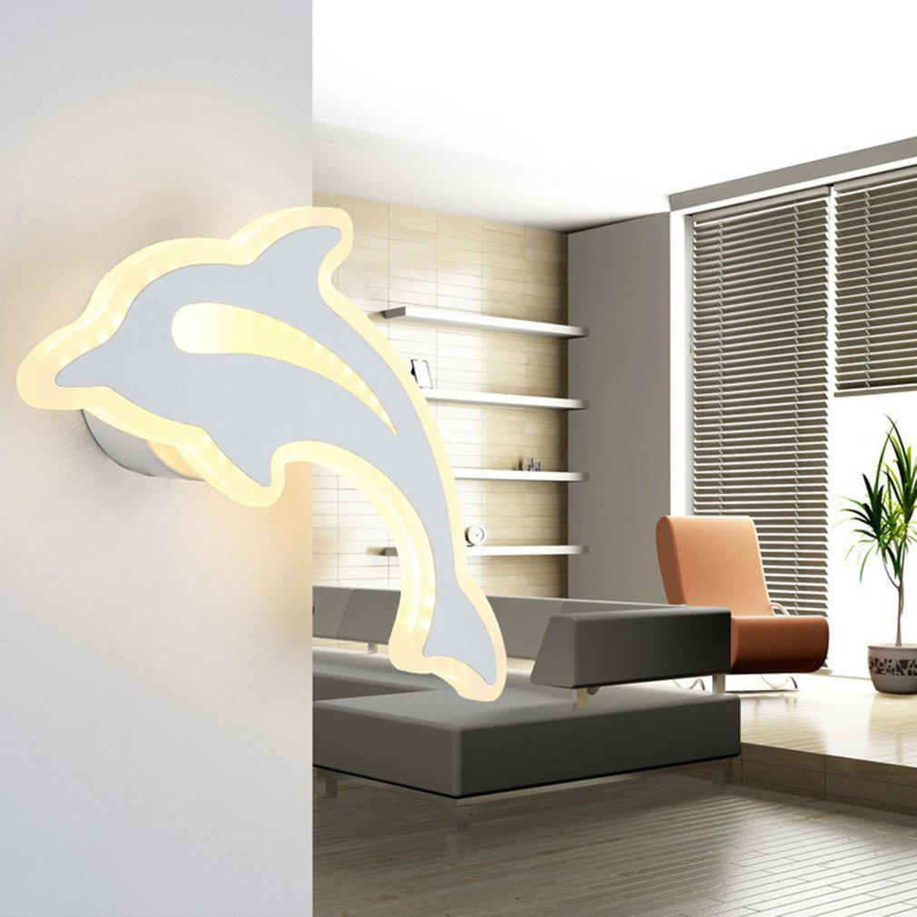 Unique Cute Dolphin-shaped Lamps Household Living Room Aisle Wall Lights