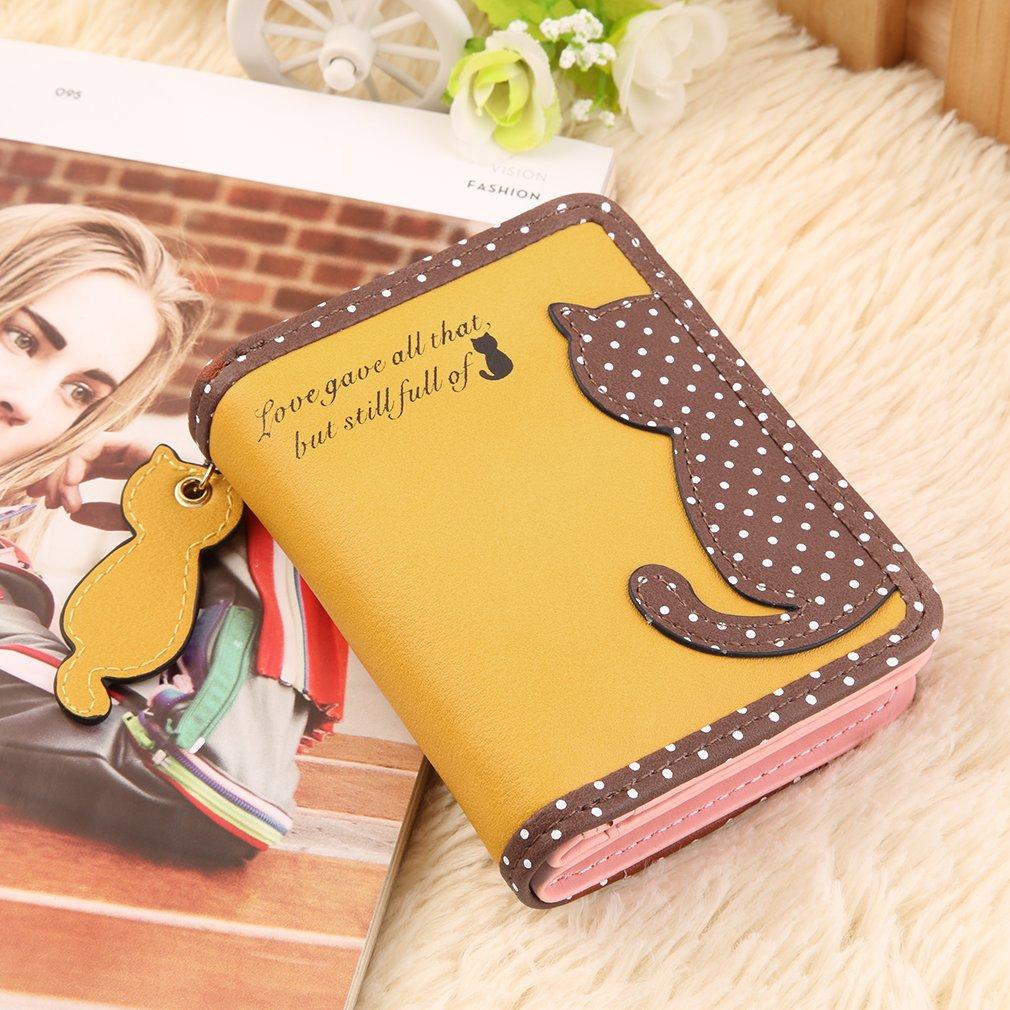 Fashion Women Lady Cute Cat Clutch Purse Wallet Card Holder Mobile Coin Bag