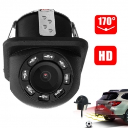 170° Night Vision 8 LED LCD Mini Car Rear View Backup Parking Reverse Camera Kit