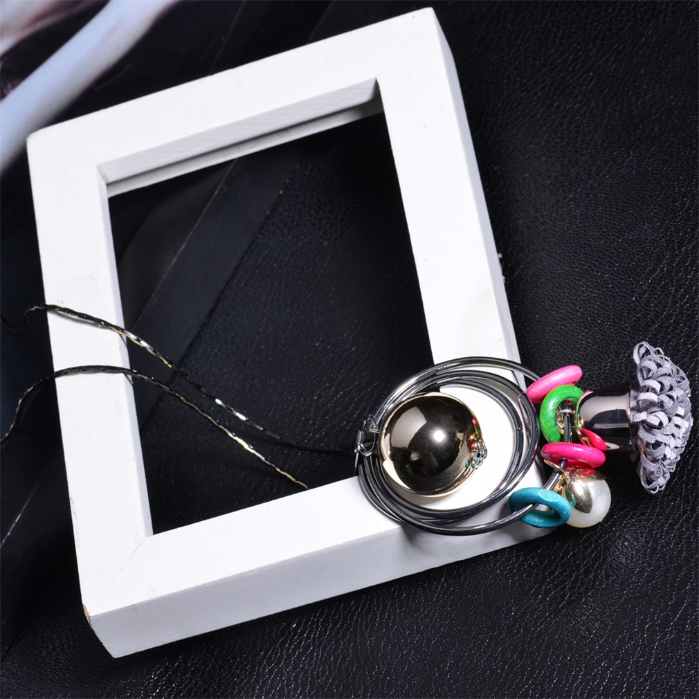 Women Necklace Accessories X0193 Colorful Design Female Lady Sweater Necklace