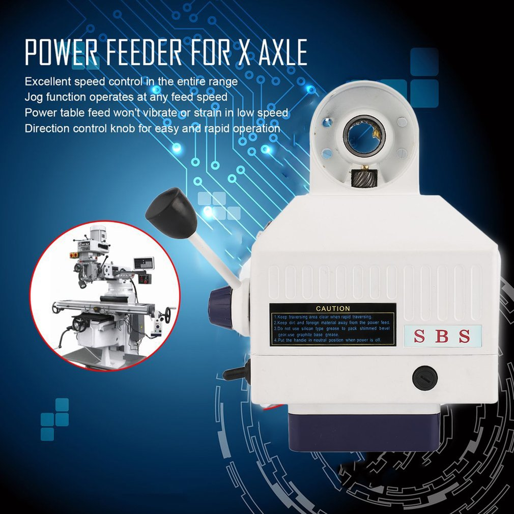 SBS 110V Automatical Power Feed Feeder for Vertical Milling machine X Axle