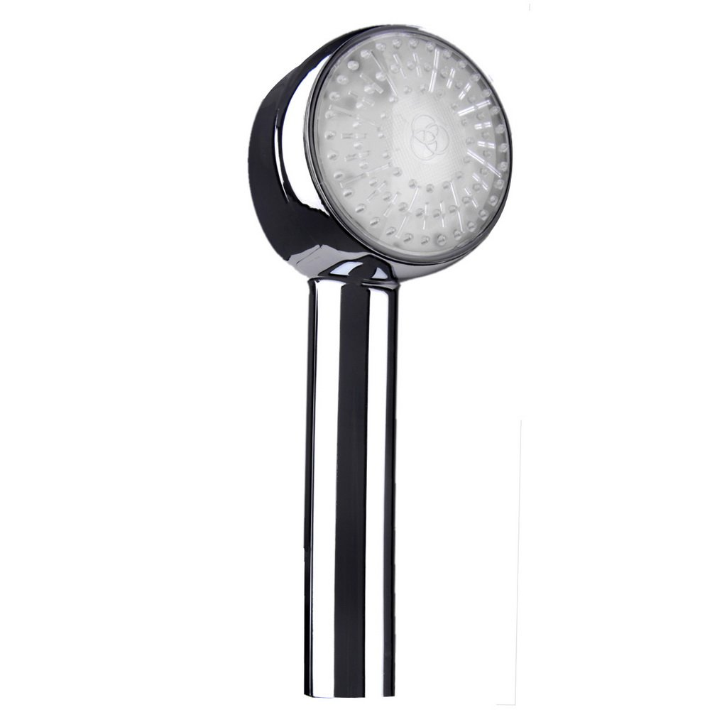 Round Bathroom Water Sprinkler 7 Colors Changing LED Shower Head Bath Sprayer