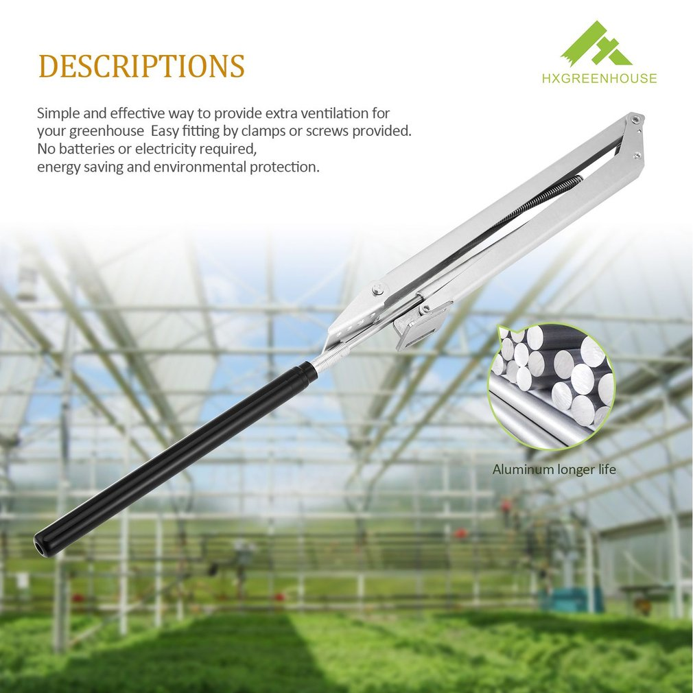 Temperature Control Automatic Greenhouse Window Opener with Double Spring