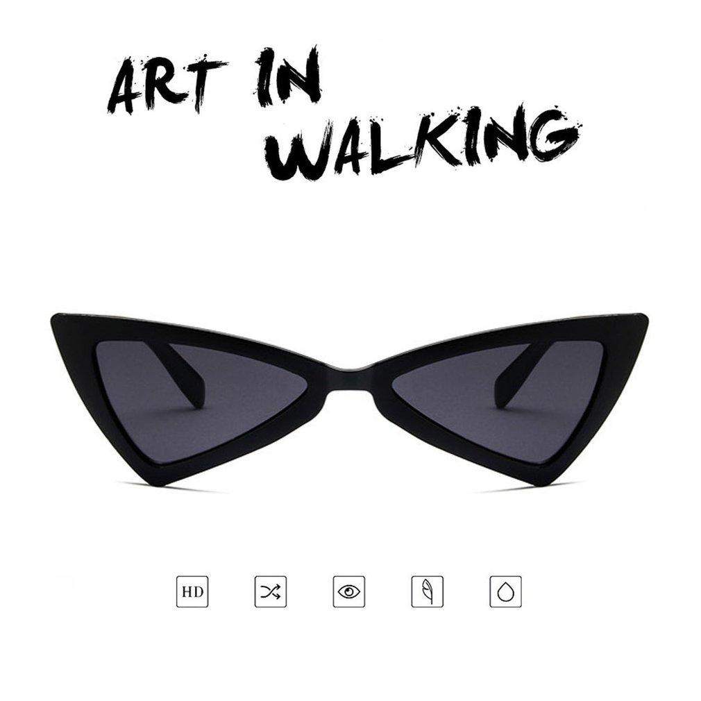 Cat Eye Women Sunglasses Irregular Triangle UV400 Eyewear Sunglasses Sun Glasses PC Frame Resin Lens Travel Glasses