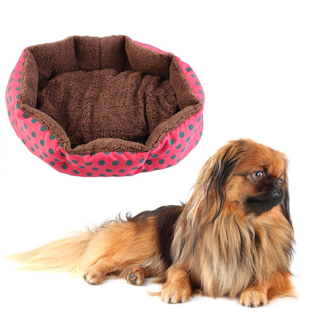 Cute Warm Pet Dog Puppy Cat Soft Flannel Warm Bed House Plush Mat Pad