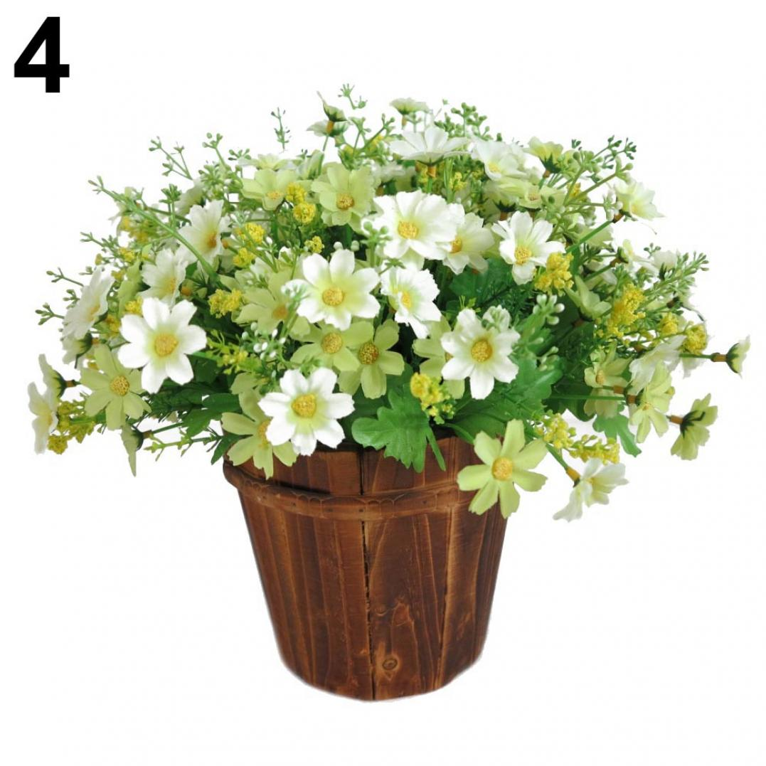 1 Bouquet 28 Heads Artificial Fake Cute Daisy Flower Home Wedding Garden Decor