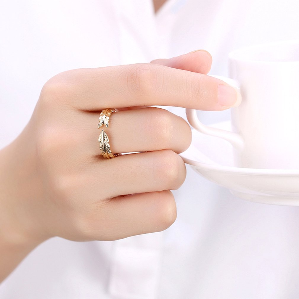 Fashion Rings Female Copper Alloy Geometric Arrow Opening Finger Rings