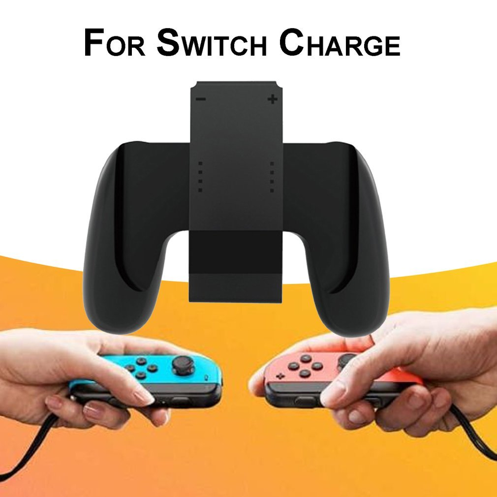 Grip Handle Charging Dock Chargeable Stand Holder for Nintend Switch Joy-Con