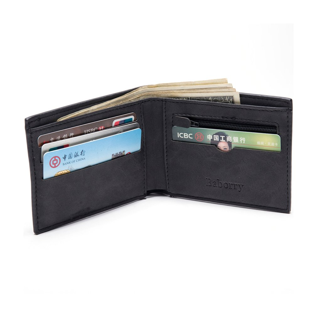 Fashion Man Male Wallet Purse Card Place Cash Coin Bag Short Folding Zipper