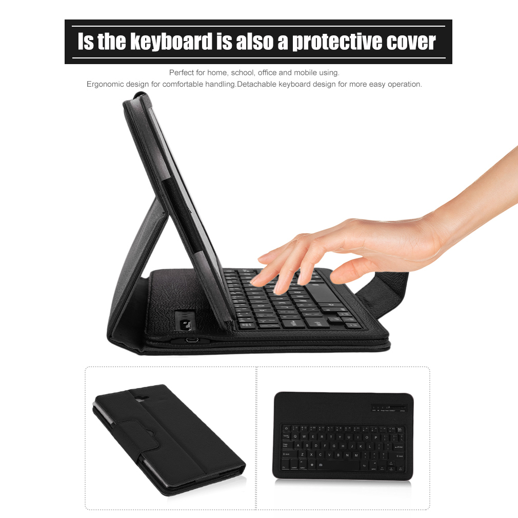Practical Bluetooth Keyboard With Case For Samsung Galaxy Tab 10.1 T580 Series