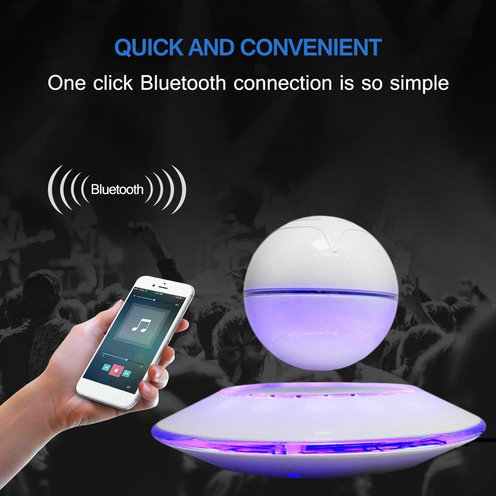 Magnetic Levitation Speaker Flying Saucer Shaped Loudspeaker Portable Speaker