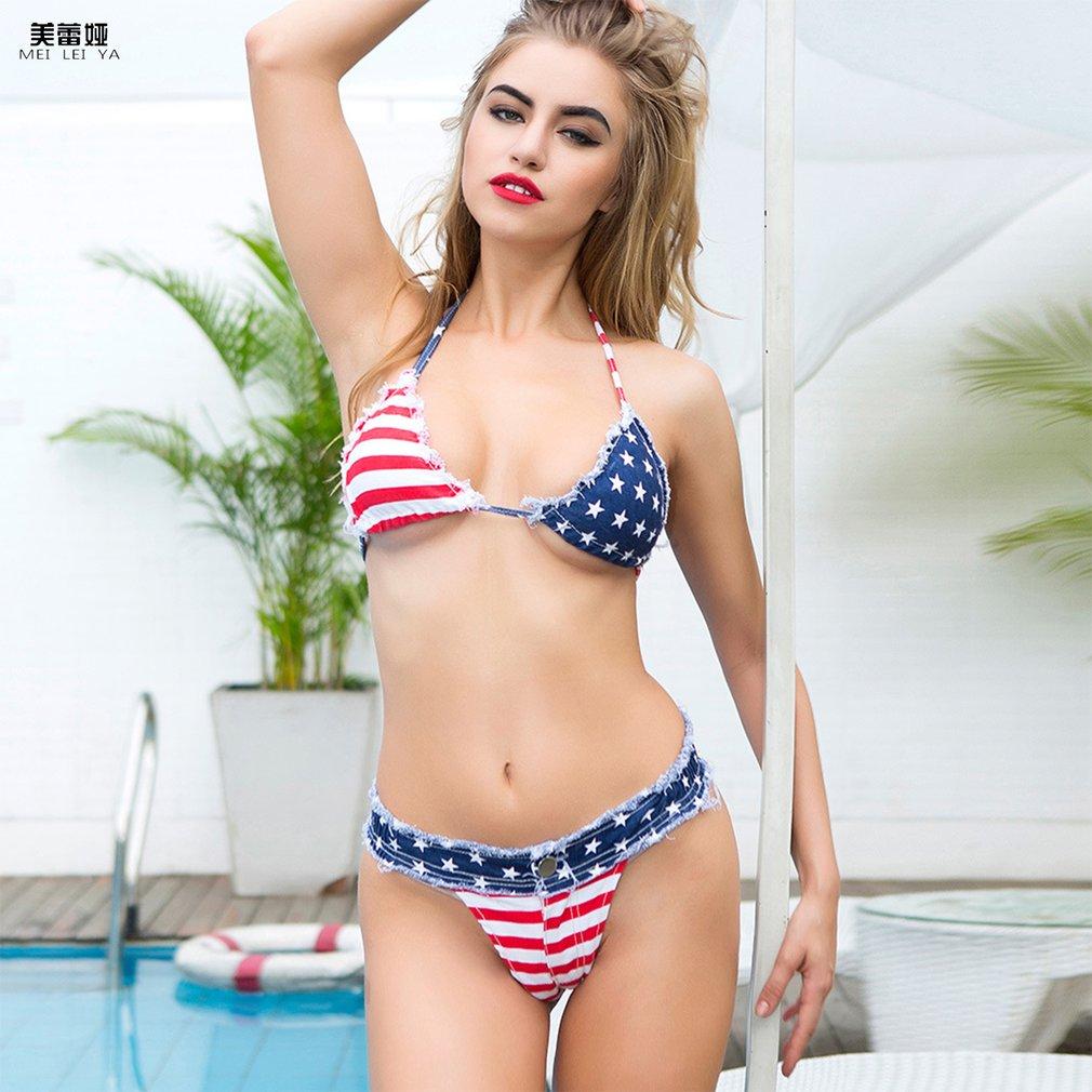 Meileiya 633 Sexy Denim Shorts Hot Pants Summer Beachwear Women Vest Crop Top