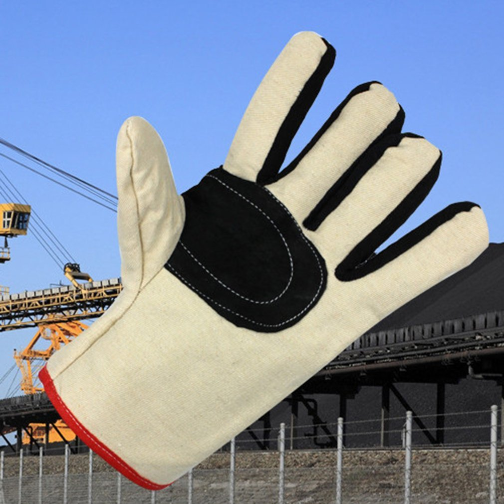 Wear Resistant Canvas Work Gloves Thickened Labor Gloves for Mechanical