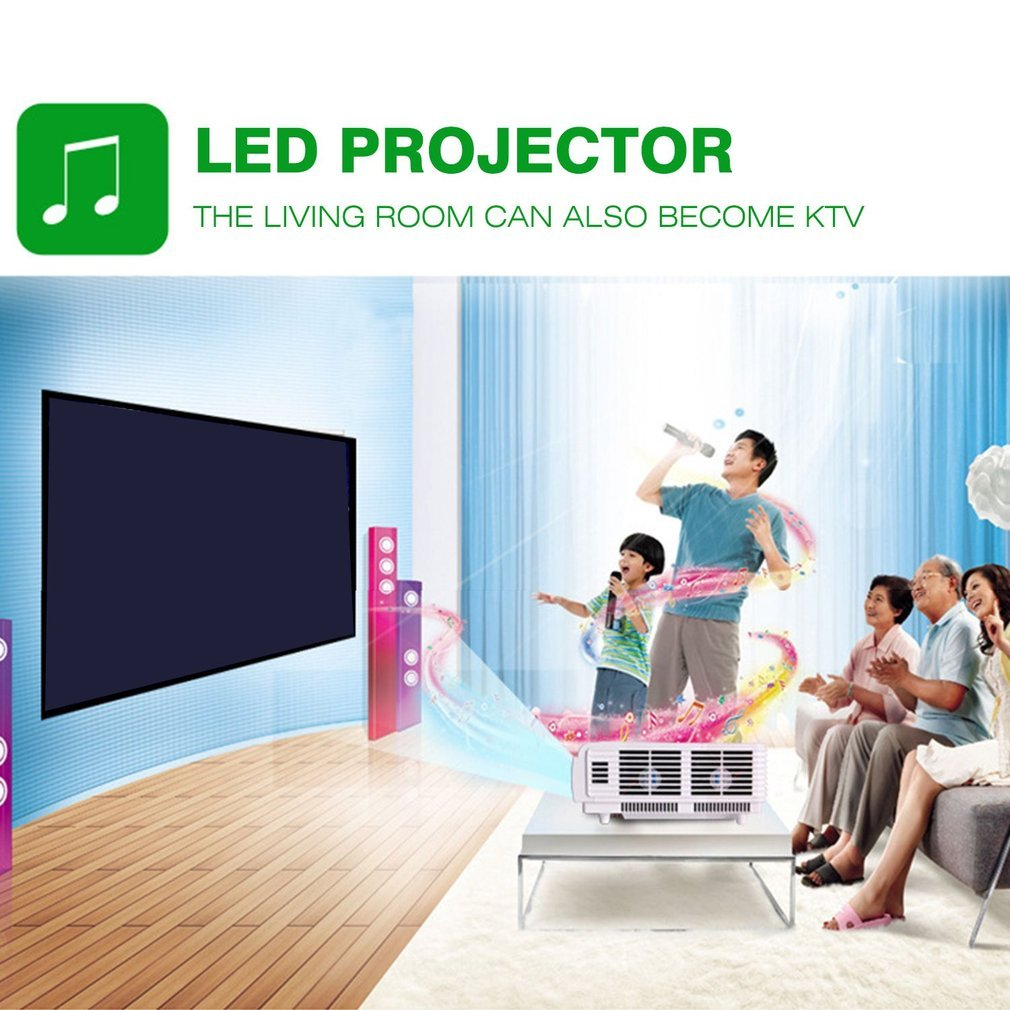 HTP96 Android LED Projector 1080P HDMI VGA Wifi Home Theater Video Projector