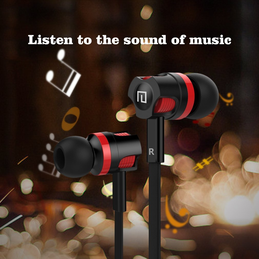 3.5mm In-Ear Wired Earphone Music Phone Headset with Microphone Headset