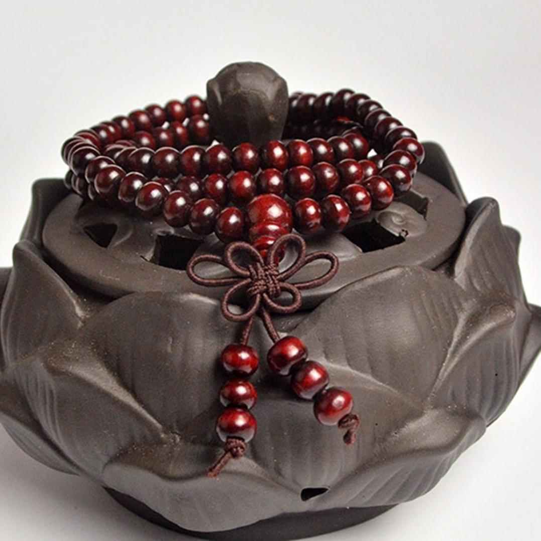 Buddhist Fashion Wooden Beads Bracelet Necklace Prayer Buddha Jewelry Gift