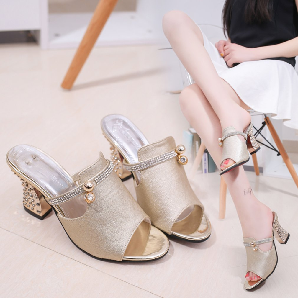 Summer Slippers Piscine Mouth High Heel With Waterproof Platform Slippers