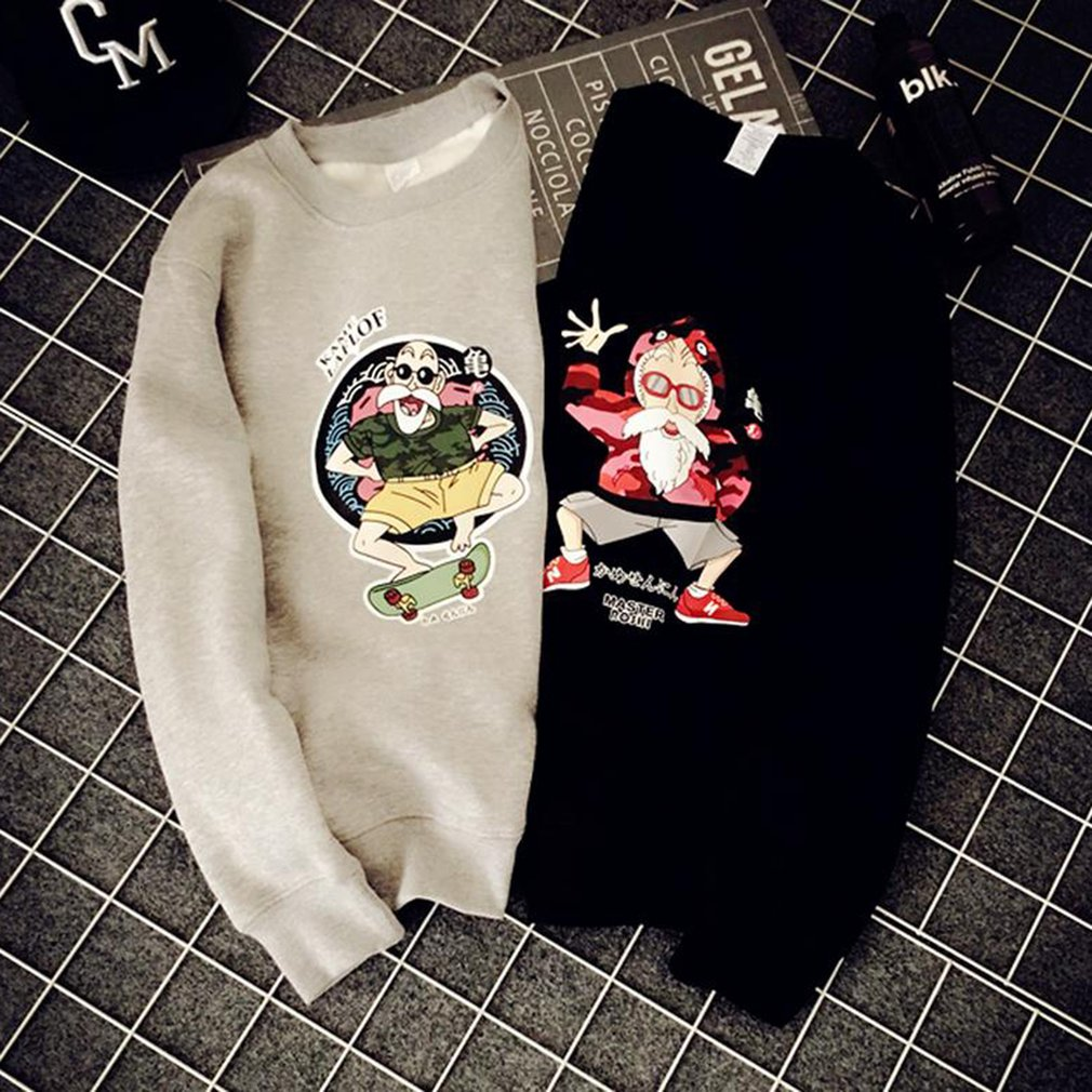 Unisex Loose Pullover Sweatshirt Unique Print Thickened Pullovers for Couples