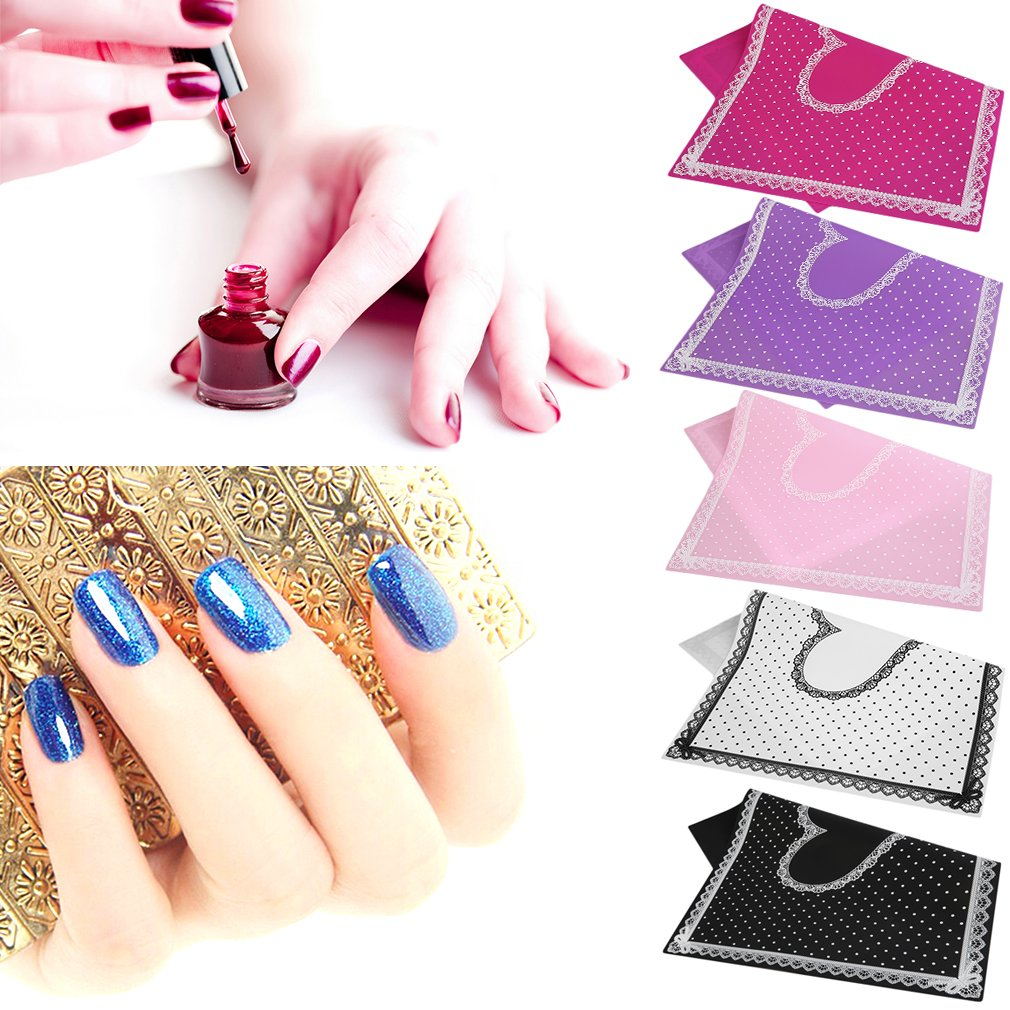 Silicon Lace Polka Dot Heart Pattern Nail Art Table Mat Pad Manicure Clean