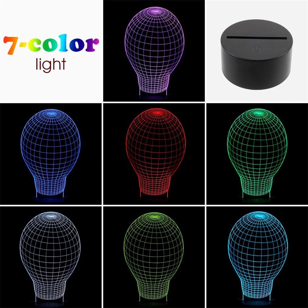 3D Illusion Light Blub Shaped LED Night Light Table Desk Lamp Bedroom Decor