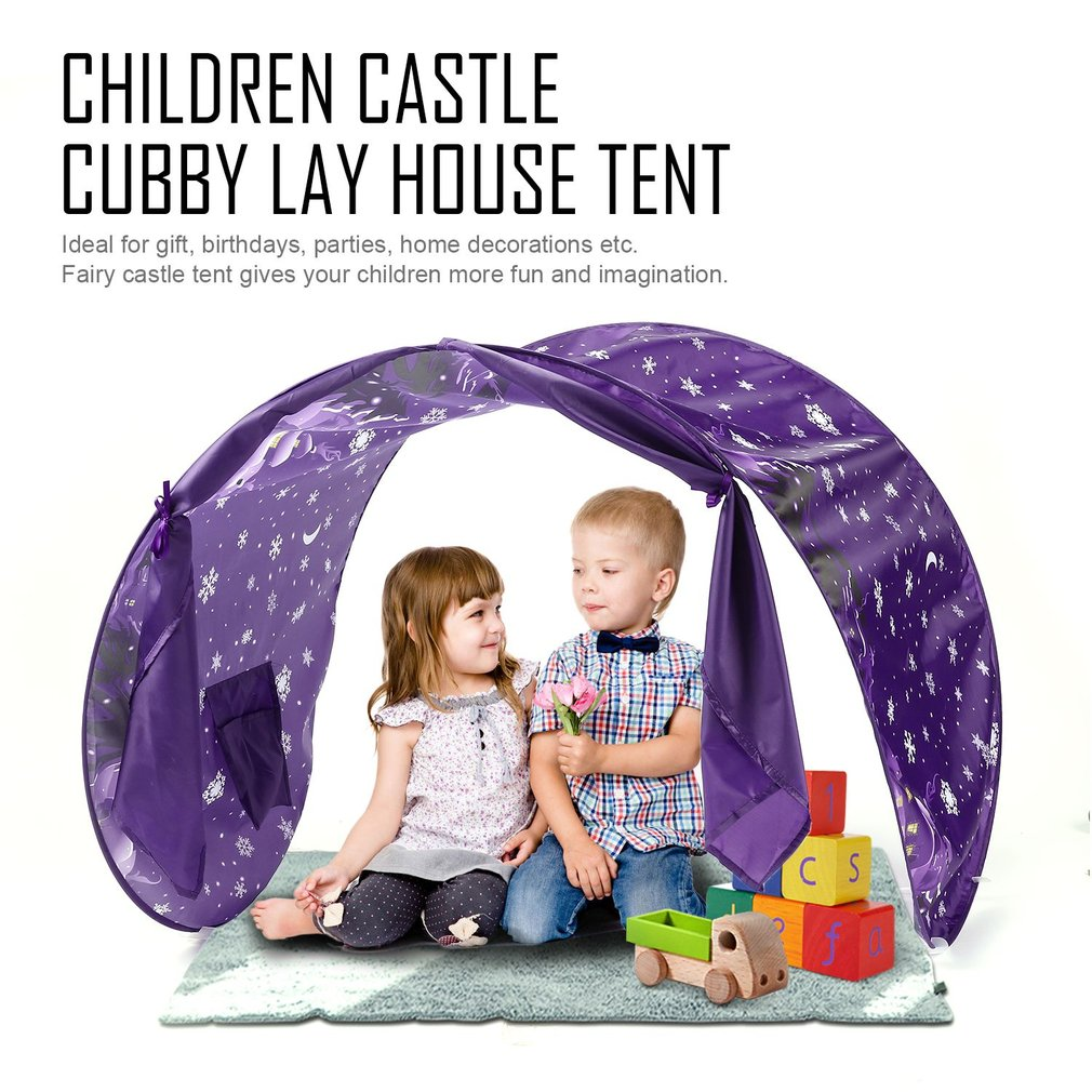 Compact Size Folding Children Kids Play Tent Children Castle Cubby Play House