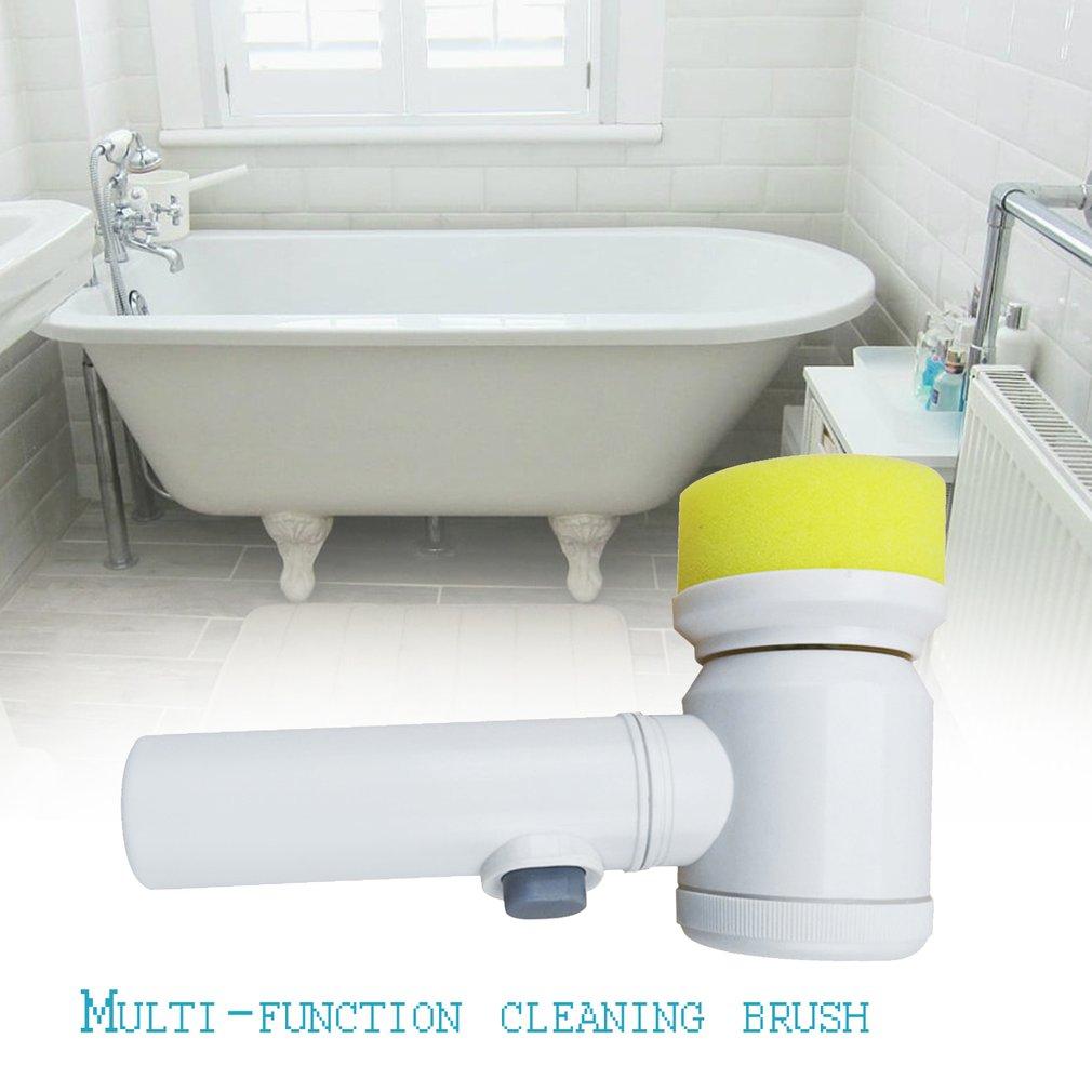 5 In 1 Multifunctional Design Electric Magic Washing Brush Cleaner Machine Household Kitchen Bathroom Cleaning Brush Tool