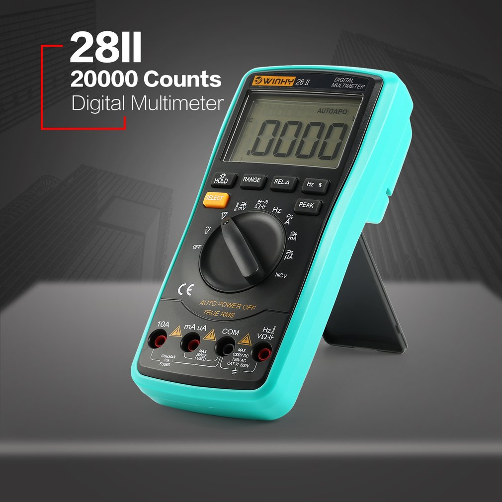 28II 20000 Counts Digital Multimeter True RMS AC/DC Volt Amp Ohm NCV Tester