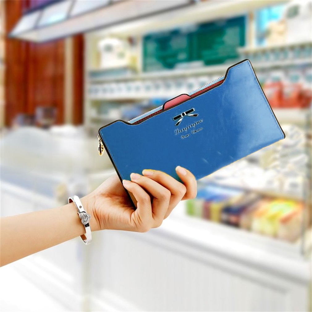 New Fashion Women Sweet Multi-Card Holder Long Wallet PU Leather Purse