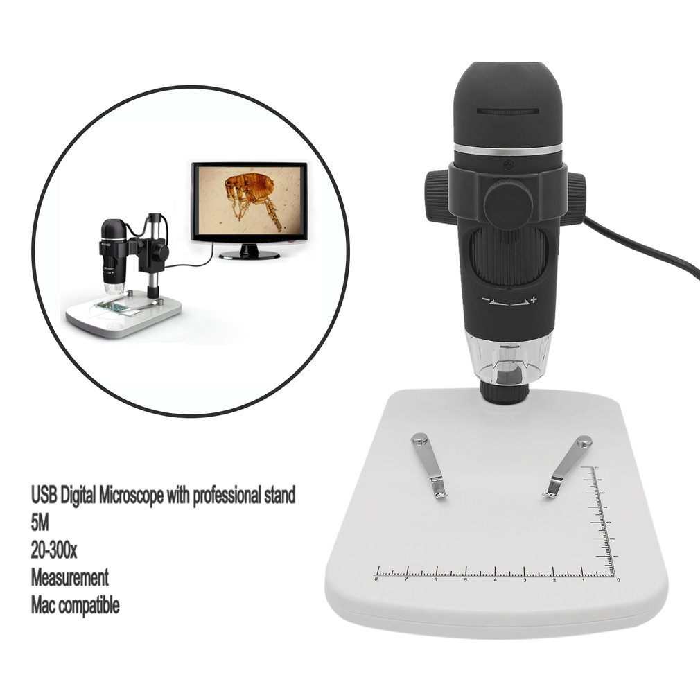 UM012C USB Digital Microscope With 300x Magnifications 5M Pixels Image Sensor
