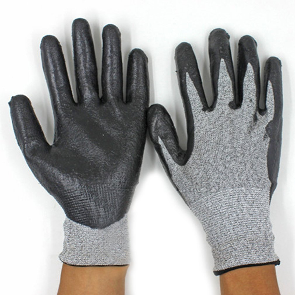 1 Pair Anti-Abrasion Cut Resistant Electric Welding Industrial Tactical Gloves