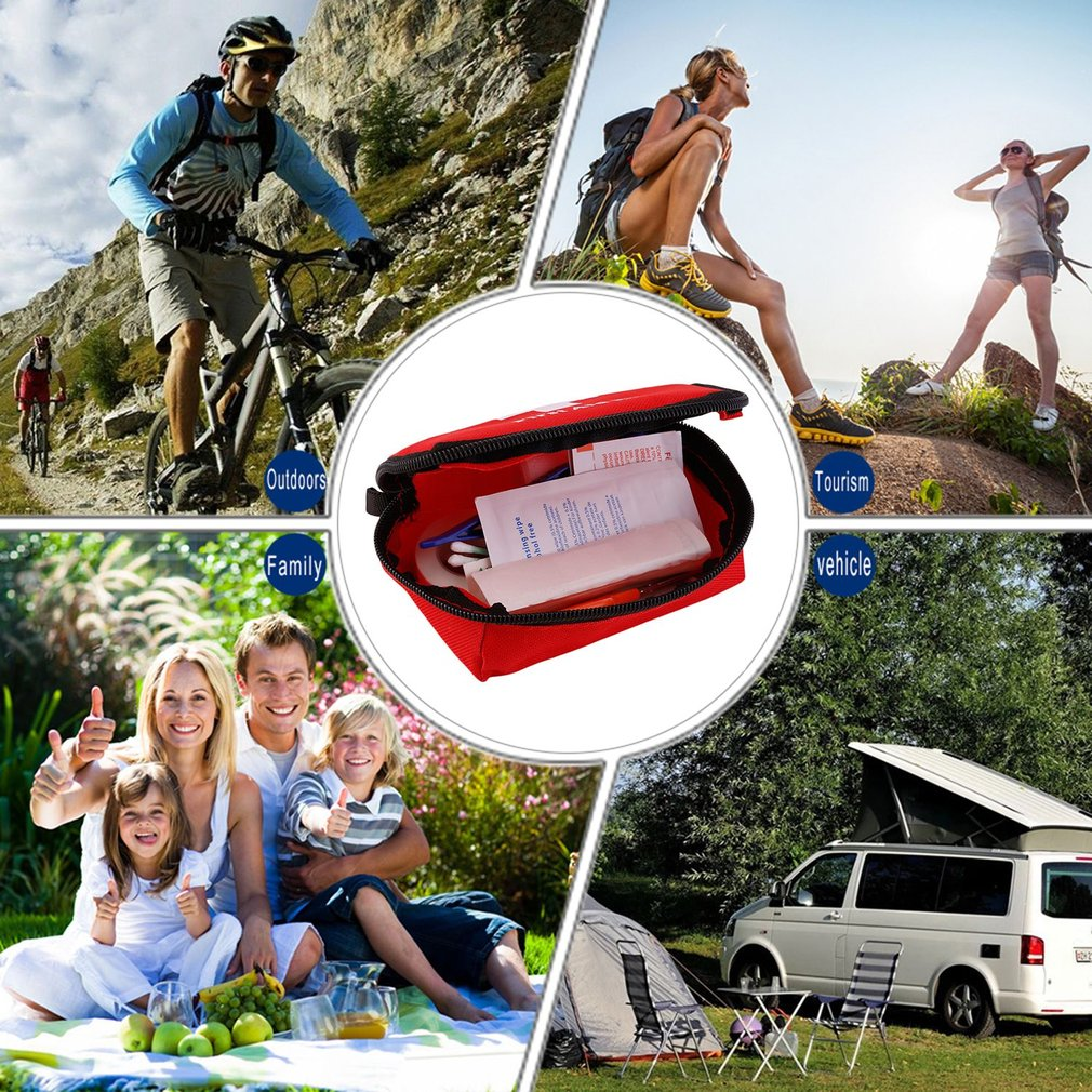 First Aid Kit Outdoor Sport Travel Emergency Survival Kit Home Medical Bag
