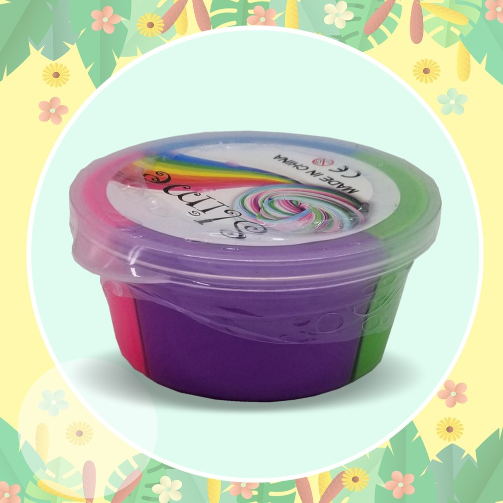 Dynamic Fluffy Slime Clay Colorful Stress Relief Slime Sludge Cotton Mud Toy