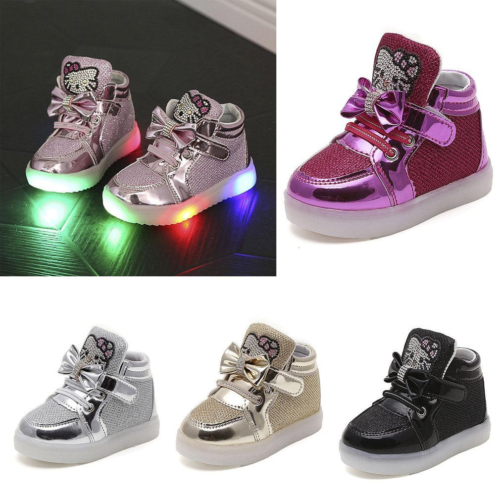 Fashion LED Lamps Baby Boys Girls Sports Shoes All-match Walking Sneakers