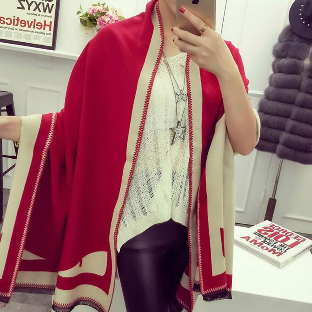 New Fashion Women Blanket Oversized Cozy Scarf Wraps Shawl Faux Cashmere