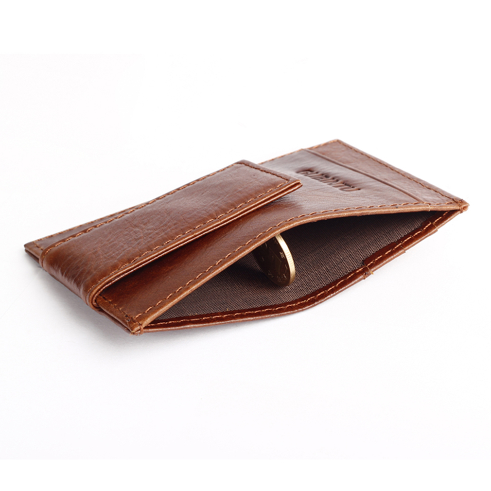 Practical Genuine Leather Unisex Wallets Fashion Genuine Leather Wallet