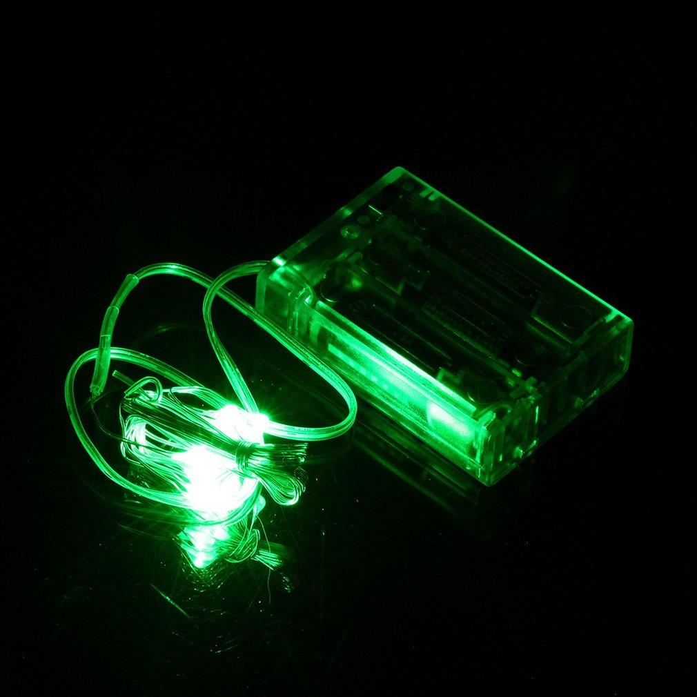 2M 4.5V 20LED String Light Lamp With Battery Box Garden Christmas Party Decor