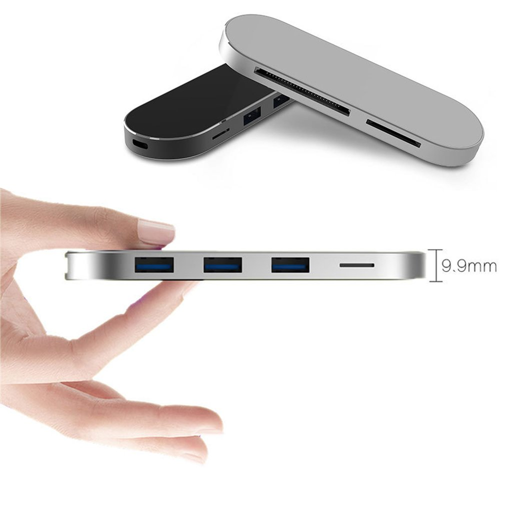 Multipurpose 7 in 1 Type-C Hub USB 3.0 Combo Hub 5Gbps for MacBook T900