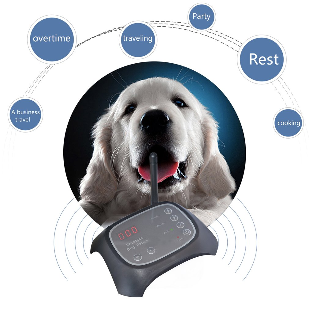 Wireless Dog Training Fence Pet Containment System with Rechargeable Receiver