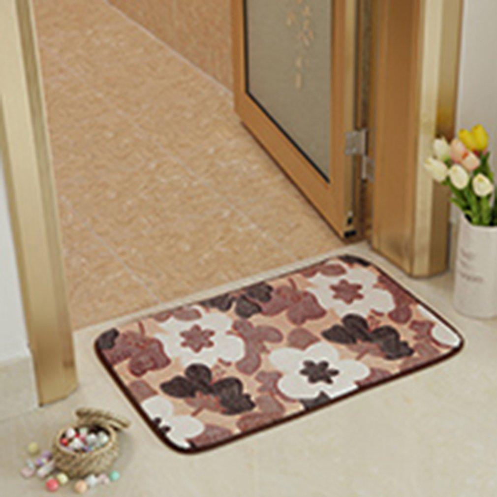 40*60cm Bathroom Mat Fashion Pattern Non Slip Rugs Kitchen Floor Mat Carpet