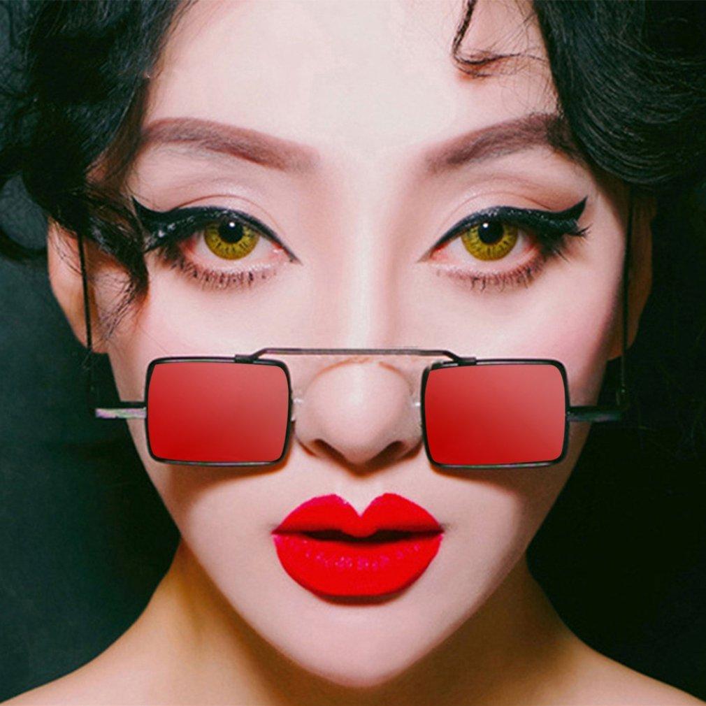 European American Fashion Women Square Shape Sunglasses Vintage Metal Frame UV Protective Eyewear Sunglasses