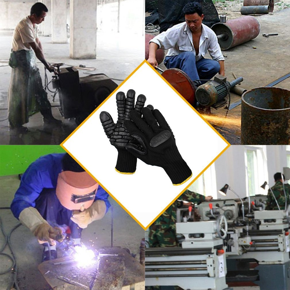 1 Pair Gardening Gloves Safety Protective Labor Working Gloves Shockproof