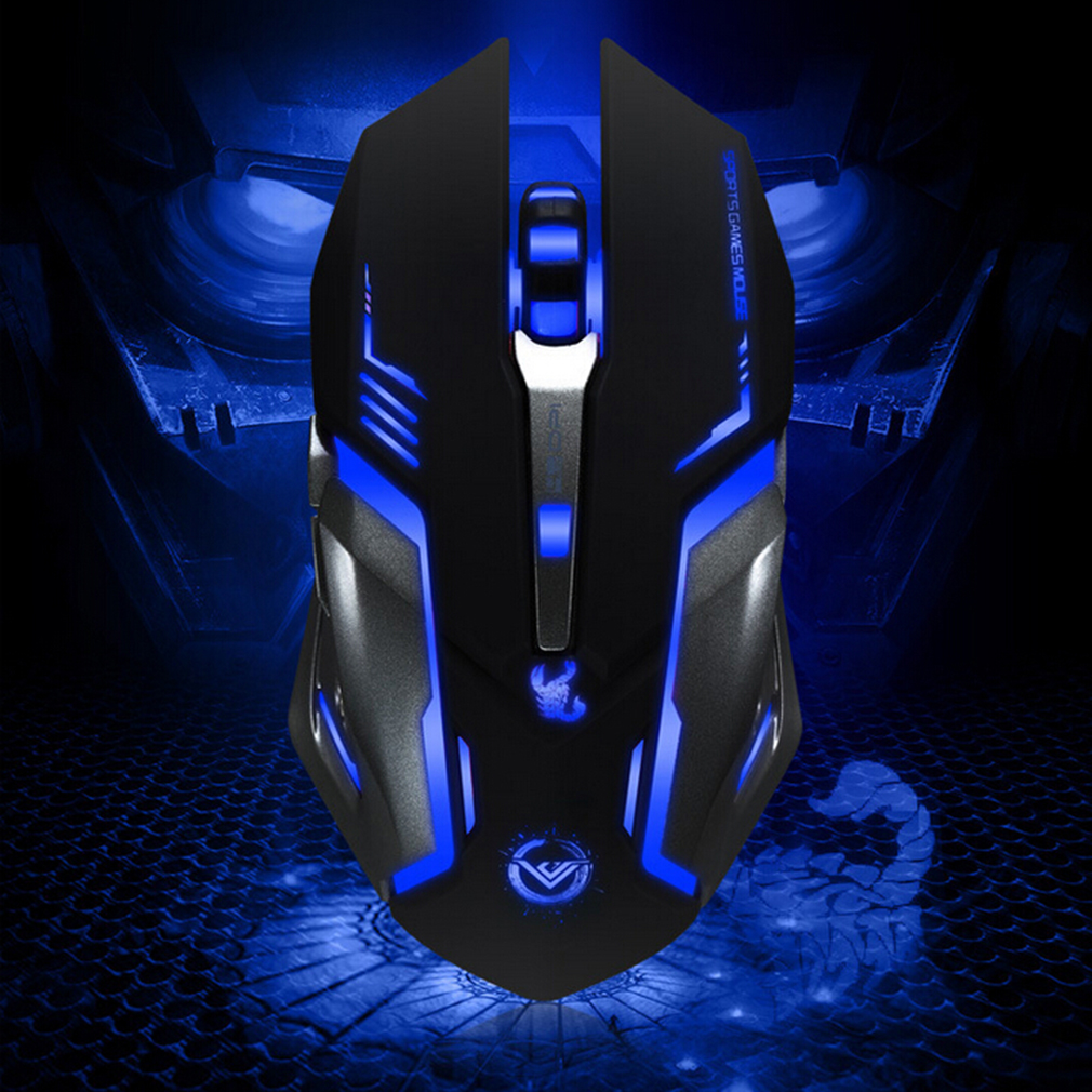 USB Plug & Play 3500 DPI 6 Button Optical Mice Macros Gaming Steel Mouse