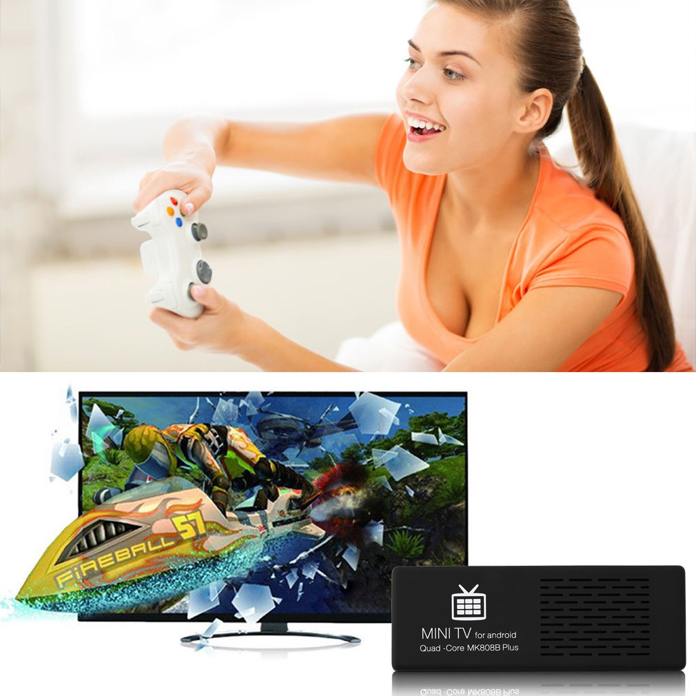 Mini TV For Android 4.4 4+4 Core HD 1080P Smart Android TV Dongle