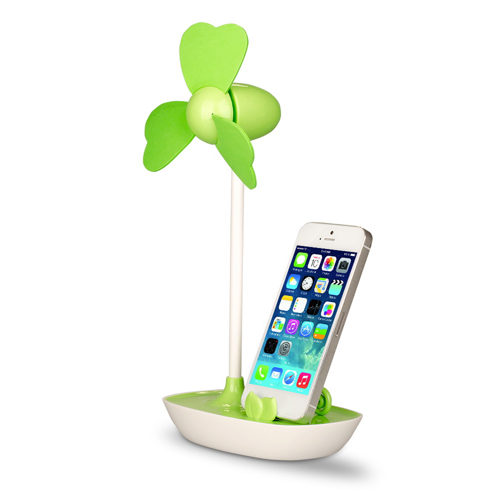 2 in 1 Mini USB/Battery Cooling Fan + Stand Holder for Cell Phone