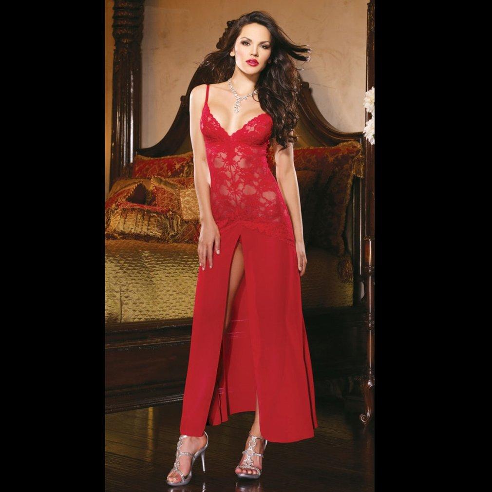 Classic Pajamas Long Dress Sexy Underwear Lingerie Nightwear Princess Dress