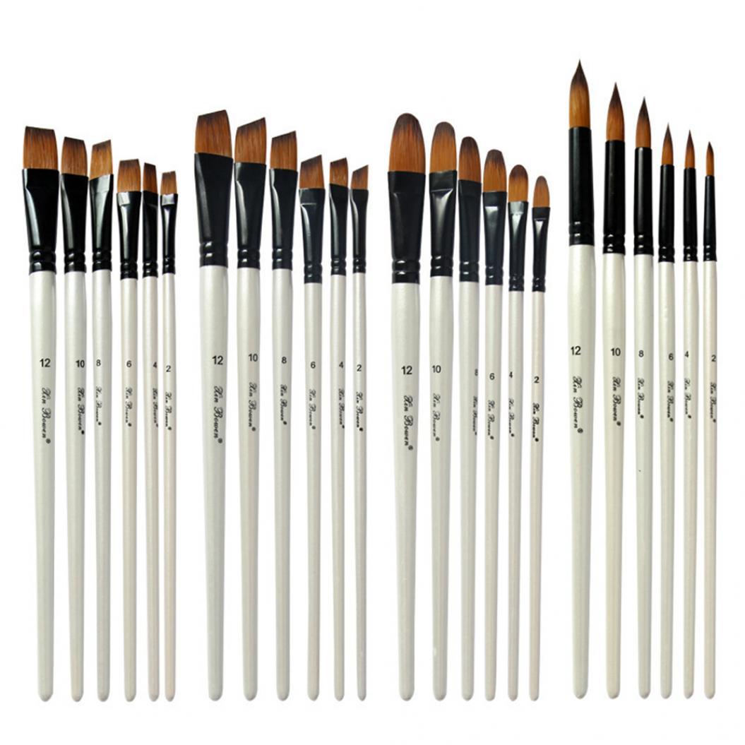 6Pcs Artists Painters Nylon Hair Drawing Liner Watercolor Pen Oil Painting Brush