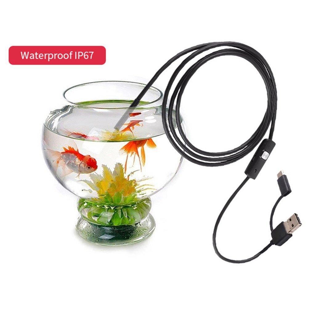 7MM 6LED Waterproof USB Type-C Endoscope Inspection Tube Inspection Camera